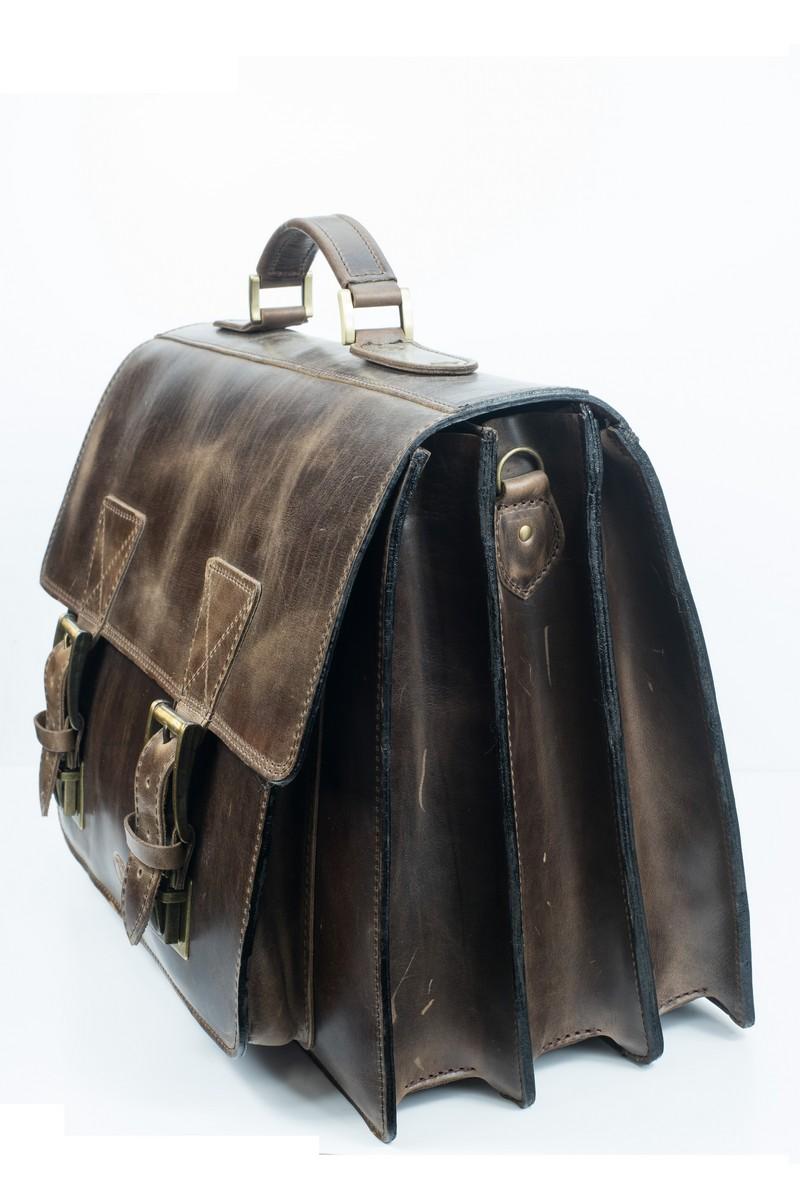 14134b509cd Ώμου: Aνδρική τσάντα Laptop αντοχής με 3 χώρους δερμάτινη